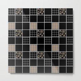 Black and brown geometric pattern . Metal Print
