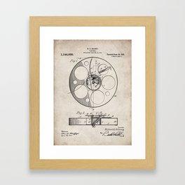 Film Reel Patent - Classic Cinema Art - Antique Framed Art Print