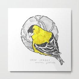 New Jersey American Goldfinch Metal Print