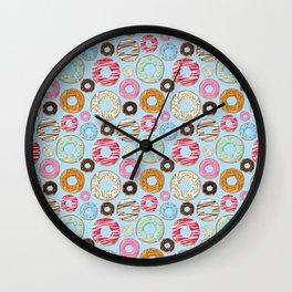 Donut pattern Wall Clock