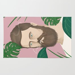 Man plants and cigarettes Rug