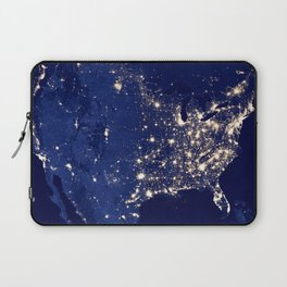 City Lights of the United States Laptop Sleeve