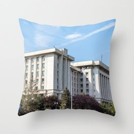 Roumania, Romanian Ministry, Bucarest Throw Pillow