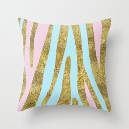 Golden exotics - bright pastels Throw Pillow