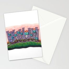 Waterfront Apartments Architectural Illustration 57 Stationery Cards