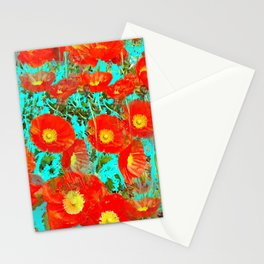 Les pavots Stationery Cards