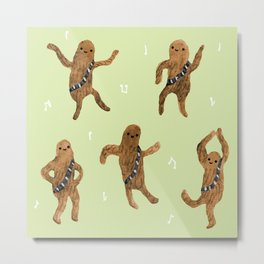 Wookie Dance Party Metal Print