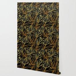 Gold leaves Wallpaper