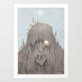 Forest Troll Theodor Kittelsen Art Print