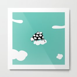 Flying Turtle by McKenna Sanderson Metal Print