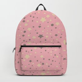 Cute hand-drawn and pastel coloured stars and dots Backpack