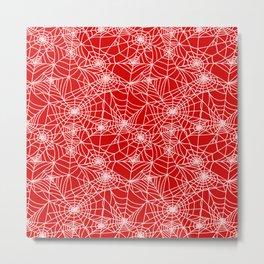 Blood Red Cobwebs Metal Print