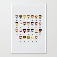 Pixel Star Trek Alphabet Canvas Print