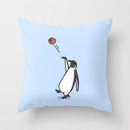 Balling Penguin Throw Pillow