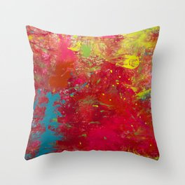 Tie-Dye Veins Throw Pillow