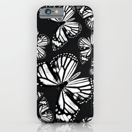 Monarch Butterflies | Monarch Butterfly | Vintage Butterflies | Butterfly Patterns | Black and White iPhone Case