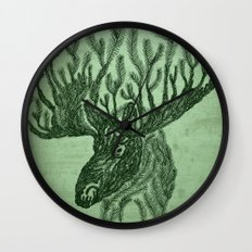 Moose-fir Wall Clock