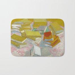 Piles of French novels by Vincent van Gogh, 1887 Bath Mat