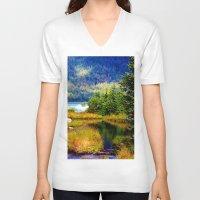 alaska V-neck T-shirts featuring Alaska by KL Design Solutions