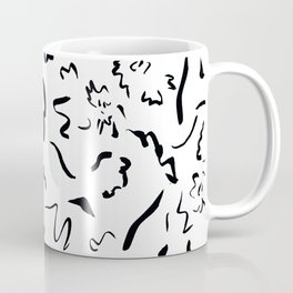 Freely Scribbled - Black & White Coffee Mug