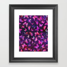 Butterfly Forest Purple Framed Art Print