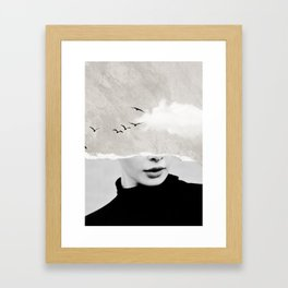 minimal collage /silence Framed Art Print