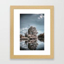 Infrared Tree Framed Art Print