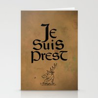outlander Stationery Cards featuring Je Suis Prest by Skart87