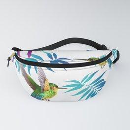 Cute Hummingbird & Tropical Leaves Fanny Pack