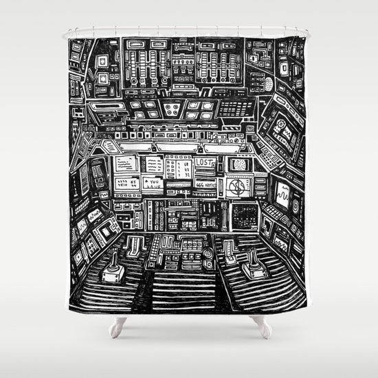 Lost cabin 666 Shower Curtain