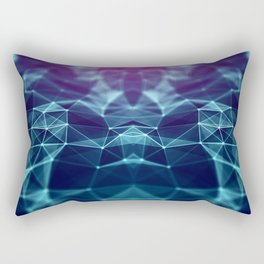 Polygonal space low poly background with triangles Rectangular Pillow