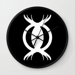 Goetic Symbol on Black Wall Clock