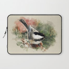 Chickadee Watercolor Art Laptop Sleeve