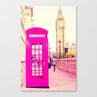 telephone Canvas Prints featuring TELEPHONE  by Ylenia Pizzetti