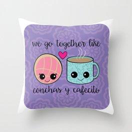 Concha Y Cafecito Throw Pillow