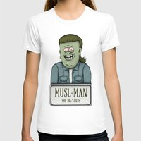 muscle T-shirts featuring Muscle Man by adam marsh