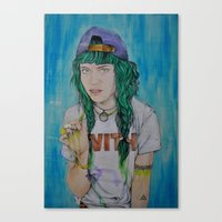 grimes Canvas Prints featuring Grimes by Jenn