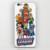 muppets iPhone & iPod Skins featuring Justice League of Muppets by JoshEssel