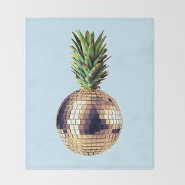 Ananas party (pineapple) blue version Throw Blanket