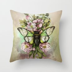 Cicada [The last summer chant]] Throw Pillow