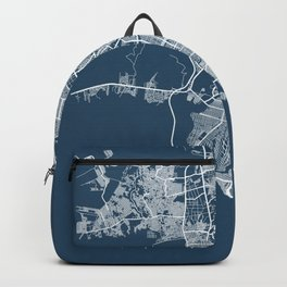 Guayaquil Blueprint Street Map, Guayaquil Colour Map Prints Backpack