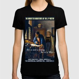 The Doctor and Vermeer's Geographer [Art is aWay] T-shirt