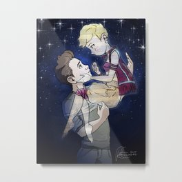 Shrift and Felix Metal Print
