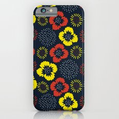 Blooming Wild (red & yellow) Slim Case iPhone 6s