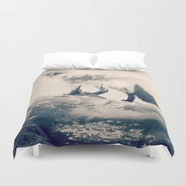 Fox Mountain Walker Duvet Cover