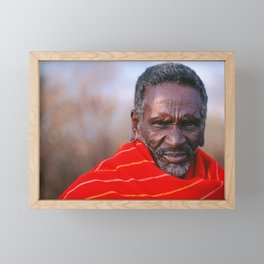 African Maasai Elder Framed Mini Art Print
