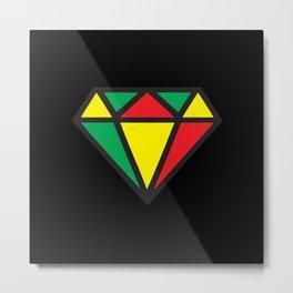 Reggae Diamond Metal Print