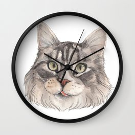 Normie the Cat - artist Ellie Hoult Wall Clock