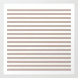 Beige Stripes Art Print