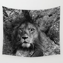The Fearless Lion Wall Tapestry